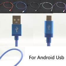 1M/3FT Metal Nets Micro USB Data Sync Charger Charging Cable For Mobile Phones