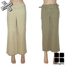 INSIGHT '3/4 LONG' WOMENS TROUSERS CAPRI SHORTS SAND KHAKI 8 12 14 BNWT RRP £40