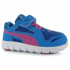 Puma Kids Childrens Girls Blur Nylon Runners Velcro Strap Trainers Sports Shoes