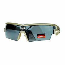 Xloop Mens Sunglasses Half Rim Rectangular Wrap Around Sports Frame