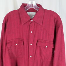Western Prairie L Cowboy Pearl Snap Shirt Merrill & Forbes Outfitters Red