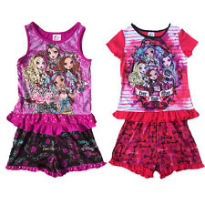 Girl Kids Monster High 6-16Y Sleepwear Nightwear Top Shirt&Pants Pajamas Outfits