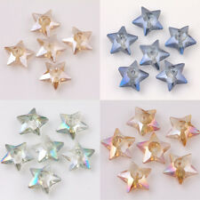 10/20Pcs Czech Crystal Glass Star Shape Loose Spacer Beads Jewelry Making 10x4mm