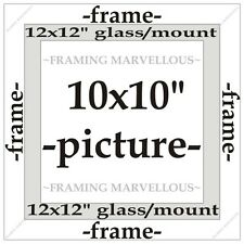 Honey Pine Wood Photo Picture Frame with White Mount - Choose size