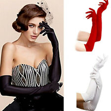 Satin Long Gloves Opera Bridal Wedding Evening Party Fashion Prom Costume Gloves