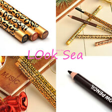 Make Up Leopard Lasting Brown Eyeliner Eyebrow Pencil With Brush Waterproof NEW