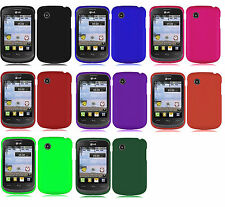 Screen Protector+Car Charger + Hard Case Phone Cover for TRACFONE LG 306G LG306G