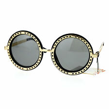 Metal Outline Oversized Round Circle Frame Sunglasses Womens Fashion