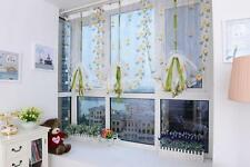 Embroidered Flower Sheer Curtain Panel Window Scarve Balcony Tulle Valance Drape