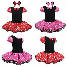 Toddler Kids Girls Baby Minnie Mouse Outfits Party Costume Tutu Dress + Headband