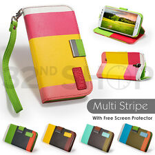 NEW WALLET PU LEATHER CASE COVER FOR Samsung Galaxy S5 Free SCREEN PROTECTOR