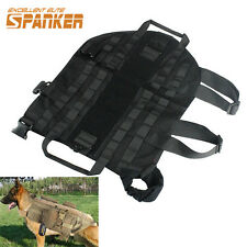 5 Size Tactical MOLLE Harness Dog Vest Army Train Walk Dog Clothes Black XS-XL