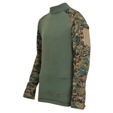 TRU-SPEC 2559 Woodland Digital Camo Tactical Uniform Combat Shirt - FREE SHIP