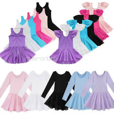 Girls Gymnastics Dress Toddler Kid Leotard Ballet Tutu Skirt Dance wear Clothing