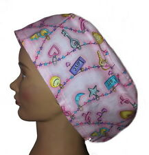 Surgical, Chemo, Chef's Cap- Breast Cancer Awareness PINK RIBBONS & WORDS BA-013