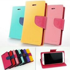 New 9 Styles Hybrid Flip Wallet PU Leather Case Cover Skin For Phones
