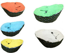 UNFILLED Footballs Print 2 Layer Baby Bean Bag Chair/Bed Todler Portable Seat