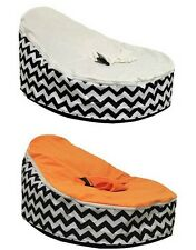 UNFILLED Waves Print  2 Layer Baby Bean Bag Chair/Bed Todler Kid Portable Seat