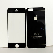 9H Mirror Black Color Real Tempered Glass Film Screen Protector for iPhone5 5S