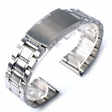 20/22mm Silver Stainless Steel Bracelet Watch Band Strap With 2 x Spring Bars