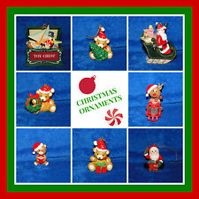 NEW CHRISTMAS VARIETY OF ORNAMENTS, TEDDY BEAR, SANTA, TOY BOX, & MORE, YOU PICK