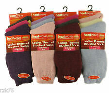 12 Pairs of Ladies Thermal Socks, Warm Thick Winter Socks By Heatwave®, Size 4-7