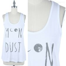 Moon Dust Front Printed Sleeveless Scoop Neck Tank Top Casual Easy Wear S M L