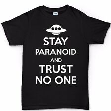 Stay Paranoid Keep Calm Aliens Roswell Funny T shirt Tee Various Colours Colors
