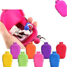 Rubber Silicone Cosmetic Makeup Bag Cellphone Pouch Bag Coin Purses Bag