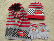 Lot Toy Story 3 knit beanie hat children winter knitted scarf gloves hat set M-2