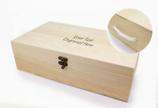 Personalised Wooden Wine Box for Two Wine Bottles Engraved Gift for Any Occasion