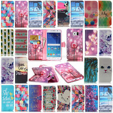 Hot Painted Wallet Leather Case Cover For Samsung Galaxy S5 S4 S3 J1 G355 G360