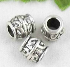 Wholesale 30/60Pcs Tibetan Silver(Lead-Free) Spacer Beads 7x8mm