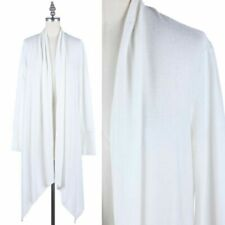 Long Sleeve Open Front Draped Solid Cardigan Casual Easy Wear Poly S M L