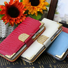 For Apple iPhone 6 6S Plus Crocodile Bling PU Leather Wallet Flip Pouch Case