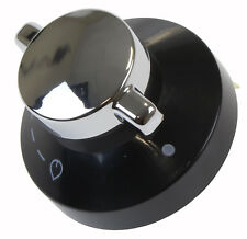 Oven Gas Control Knob Hob Cooker Flame Switch Chrome Black Silver For New World