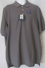 Croft & Barrow Signature Easy Care Fade Resistant Polo Gray Shirt Big & Tall