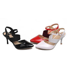 Ladies's Synthetic Leather Shoes High Heels Strap Pumps Sandals AU All Size s086