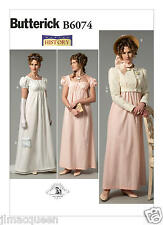 Butterick SEWING PATTERN B6074 Misses Edwardian Costume Dress,Jacket, Hat Trim
