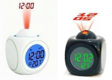TR0159 Multi-function Vibe LCD Voice Projection Alarm Clock Time & Temp Display