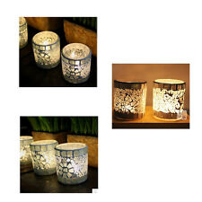 Mosaic Glass Candle Holder Tea Light Votive Candlestick Lamp Party Bridal Decor