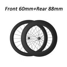 Straight Pull Carbon Wheels 60mm+88mm Carbon Clincher Road Bike Bicycle Wheelset
