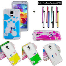 New Creative Dynamic Liquid Dolphin Transparent Hard Case Cover For Smartphones