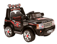 NEW KIDS RIDE ON JEEP ELECTRIC CHILDRENS 12V BATTERY REMOTE CONTROL  CARS BLACK