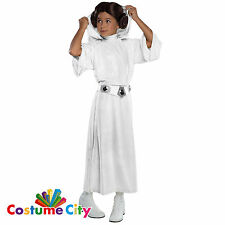 Childs Girls Official Star Wars Princess Leia Fancy Dress Party Costume