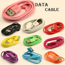 Round USB Charger Sync Data Cable Cord for Apple iPhone 4 4S 4G iPod Touch Gifts
