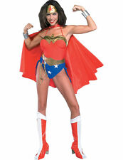 Ladies Wonder Woman Costume Sexy Super Hero Fancy Dress Justice League Outfit