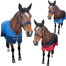 TWO TONE SOFT HORSE FLEECE RUG COOLER SHOW TRAVEL STABLE - ALL SIZES & COLOURS