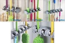 Wall Mounted Mop Organizer Holder Brush Broom Hanger Storage Rack Tool