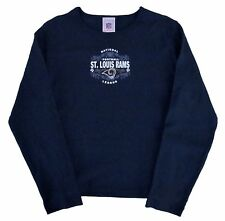 St. Louis Rams NFL Vintage Logo Fashion Long Sleeve Shirt-Women's Sizes-Blue-NEW